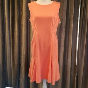 Betsy Johnson Sz 14 Coral Dress